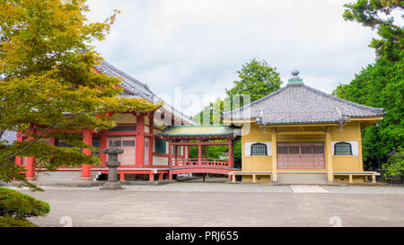 Tokyo, Japan. September 10, 2018. Old abandonned temple closed to tourist. Ueno park, Tokyo, Japan. - Stock Photo
