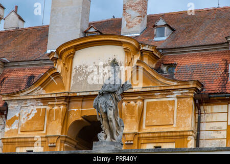 Valtice castle (Waltice) in South Moravia, Czech Republic - Stock Photo