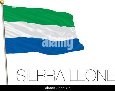 Sierra Leone official flag, vector illustration - Stock Photo