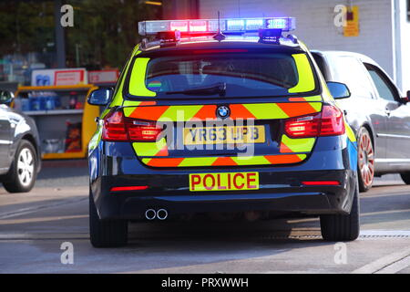 A black battenberg police car belonging to South Yorkshire Police Force which is a different colour to rest of their fleet of vehicles. - Stock Photo