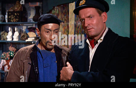 Prod DB © Hammer Film Productions - Merlin Film Productions / DR L'EMPREINTE DU DRAGON ROUGE THE TERROR OF THE TONGS de Anthony Bushell 1961 GB. Marne - Stock Photo
