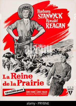 Prod DB © RKO Radio Pictures - Filmcrest Productions / DR LA REINE DE LA PRAIRIE CATTLE QUEEN OF MONTANA de Allan Dwan 1954 USA affiche française Barb - Stock Photo