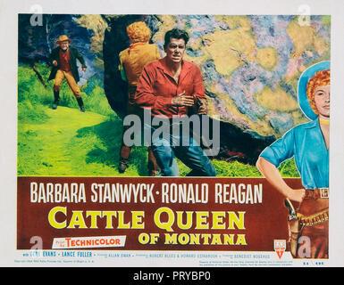 Prod DB © RKO Radio Pictures - Filmcrest Productions / DR LA REINE DE LA PRAIRIE CATTLE QUEEN OF MONTANA de Allan Dwan 1954 USA Ronald Reagan. western - Stock Photo