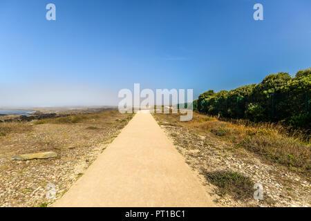 A pathway along the ocean - Viana do Castelo - Stock Photo