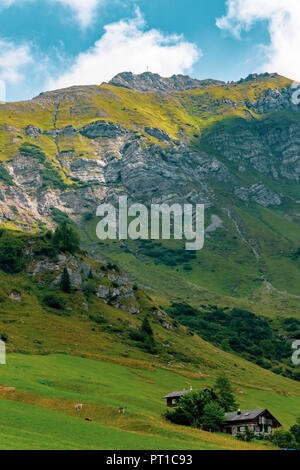 A view of the area around Malbun the only ski resort in Liechtenstein - Stock Photo