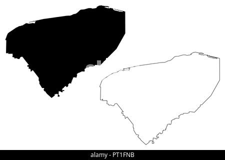 Yucatan (United Mexican States, Mexico, federal republic) map vector illustration, scribble sketch Free and Sovereign State of Yucatán map - Stock Photo