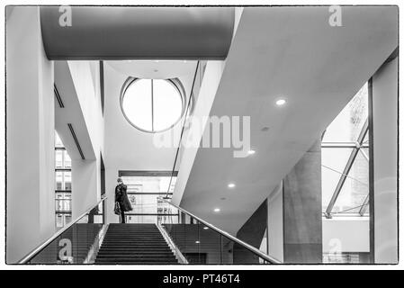 Canada, Quebec, Montreal, Musee des Beaux Arts, fine arts museum, stairs - Stock Photo