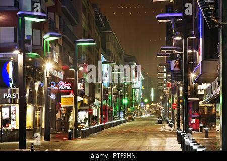 Carlemany street in Andorra la Vella. Andorra - Stock Photo