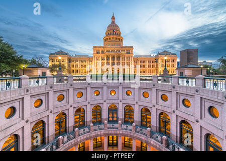 Austin, Texas, USA at the Texas State Capitol. - Stock Photo