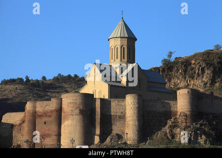 Georgia, Tbilisi, Narikala Fortress, St Nicholas Church, - Stock Photo