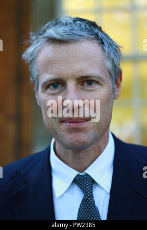 Zac Goldsmith in Westminster, London , UK on 10th October 2018. Photo credit Russell Moore. - Stock Photo