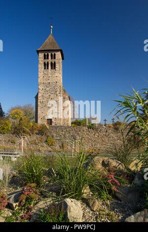 The roman Church of Peter and Paul in Porici, Czech Republic, Bohemia - Stock Photo