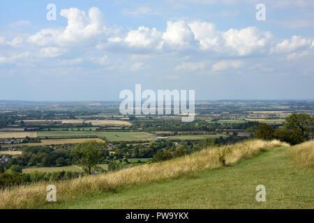 Bucks - Chiltern Hills - scenic view from Whiteleaf Hill - Stock Photo