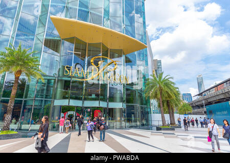 Siam Paragon most popular place tourist attraction in Bangkok for luxury brand shopping and landmark. 13 September 2018. Bangkok, Thailand. - Stock Photo