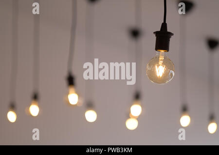 Vintage looking retro LED light bulbs - Stock Photo