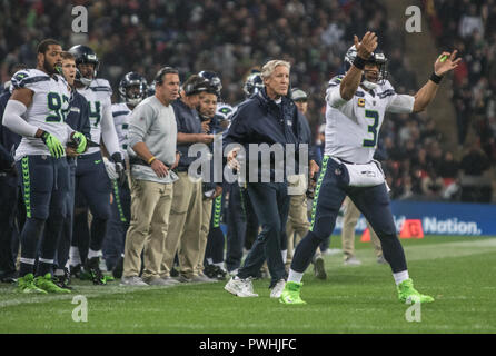 LONDON, ENG - OCTOBER 14: NFL: OCT 14 International Series - Seahawks at Raiders(Photo by Glamourstock - Stock Photo