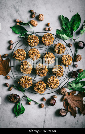Pumpkin spice breakfast cookies - Stock Photo