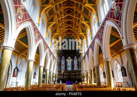 St Peter's catholic cathedral, Belfast, Northern Ireland. Nave. Ulster, U.K. - Stock Photo