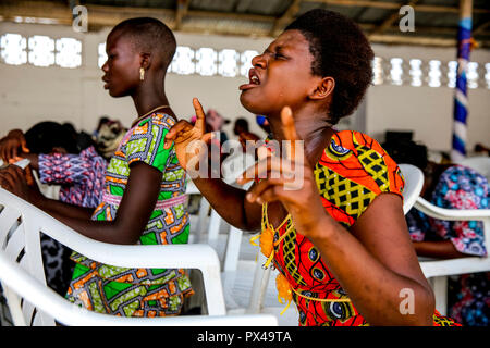 Evangelical church in Lomé, Togo. - Stock Photo