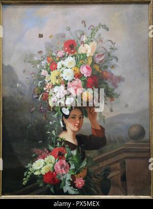 MusŽe des Beaux-Arts, Lyon, France. Fine Art museum, Lyon, France. Simon Saint-Jean, The Gardener (1837). - Stock Photo