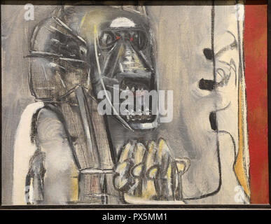 MusŽe des Beaux-Arts, Lyon, France. Fine Art museum, Lyon, France. Roberto Matta, untitled, c.1950. - Stock Photo