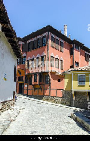 PLOVDIV, BULGARIA - JUNE 10, 2017:  Building of History Museum in old town of Plovdiv, Bulgaria - Stock Photo