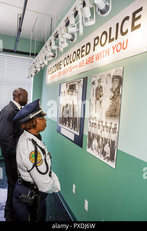 Miami Florida Overtown Black Police Precinct and Courthouse Museum grand opening ceremony community event history honor heritage - Stock Photo