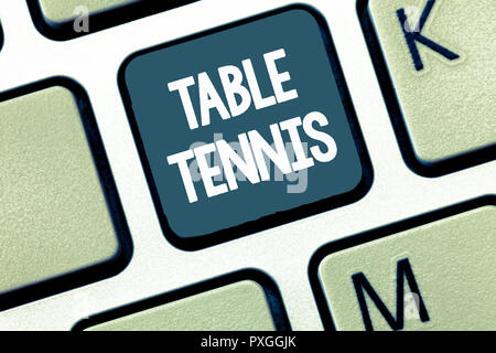 Handwriting text Table Tennis. Concept meaning Indoor game played with small bats and a ball bounced. - Stock Photo