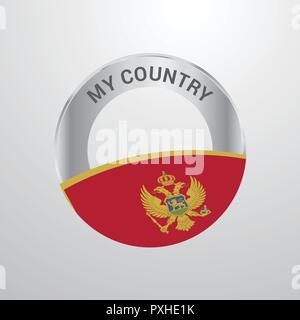 Montenegro My Country Flag badge - Stock Photo