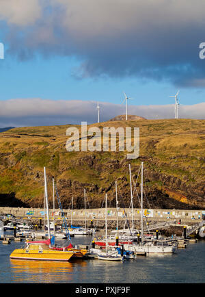 Port in Vila do Porto, Santa Maria Island, Azores, Portugal - Stock Photo