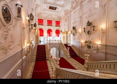 ST.PETERSBURG - JUNE 15, 2015: Interior of Catherine's II Palace in Tsarskoe Selo, Russia - Stock Photo
