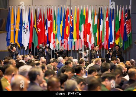 Beijing, China. 25th Oct, 2018. The eighth Beijing Xiangshan Forum opens in Beijing, capital of China, Oct. 25, 2018. Credit: Ju Zhenhua/Xinhua/Alamy Live News - Stock Photo