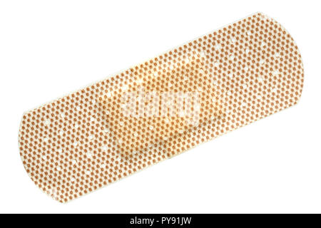 Plastic adhesive bandages for first aid use - Stock Photo