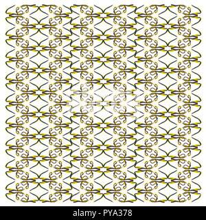 Ribbon Eel, Rhinomuraena quaesita, in repeated pattern, in front of white background - Stock Photo