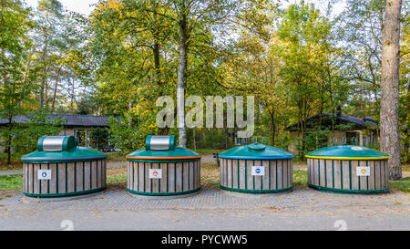 Recycle bins to seperate waste  for reuse - Stock Photo