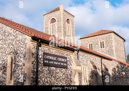 Our Lady Star of the Sea Catholic church in Broadstairs. - Stock Photo