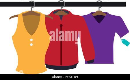 female clothes hanging in aparel vector illustration design - Stock Photo