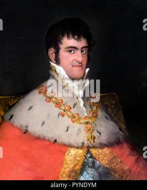 Fernando VII. Portrait of King Ferdinand VII of Spain (1784-1833) by Francisco José de Goya y Lucientes (1746-1828), oil on canvas, c.1814/15 - Stock Photo