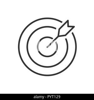Target line icon on a white background. Vector illustration - Stock Photo