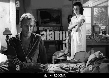 Through a Glass Darkly Sasom I En Spegel Year : 1961 Sweden Director : Ingmar Bergman Max von Sydow, Harriet Andersson - Stock Photo