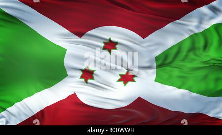 BURUNDI Realistic Waving Flag Background - Stock Photo