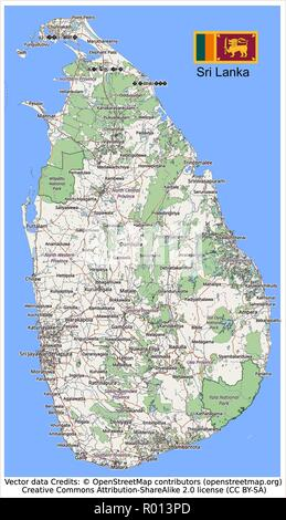 Sri Lanka,Indian Ocean,Bay of Bengal,Silk road,Ceylon,Sigiriya,Colombo,Colombo Harbour,Sinhala,Tamil,Sri Jayawardenepura Kotte, - Stock Photo