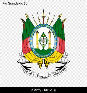 Emblem of Mato Grosso do Sul, state of Brazil - Stock Photo