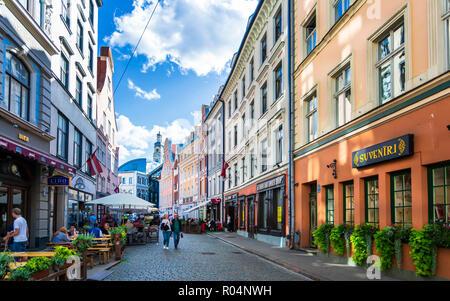 Old Riga, Latvia, Baltic States, Europe - Stock Photo