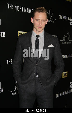 Tom Hiddleston  04/05/2016 The Series Premiere of 'The Night Manager' held at DGA Theater in Los Angeles, CA  Photo: Cronos/Hollywood News - Stock Photo