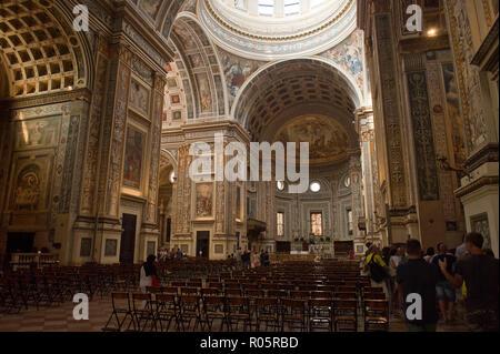 Italy, Lombardy, Mantua, Basilica di S. Andrea, catholic church in piazza Sordello - Stock Photo