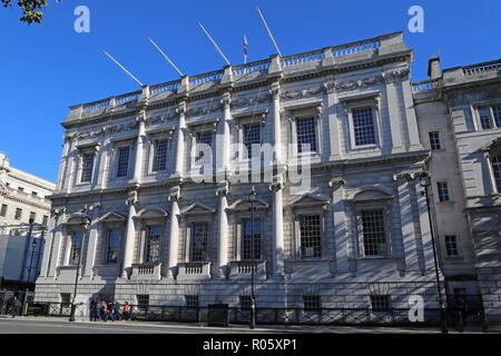 Banqueting House, Whitehall, Westminster, London, England, Great Britain, United Kingdom, UK, Europe - Stock Photo