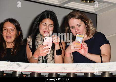 London, UK. 02nd Nov, 2018. Arrivers at The Global Gift Gala red carpet - Eva Longoria hosts annual fundraiser in aid of Rays Of Sunshine, Eva Longoria Foundation and Global Gift Foundation on 2 November 2018 at The Rosewood Hotel, London, UK. Credit: Picture Capital Credit: Picture Capital/Alamy Live News - Stock Photo