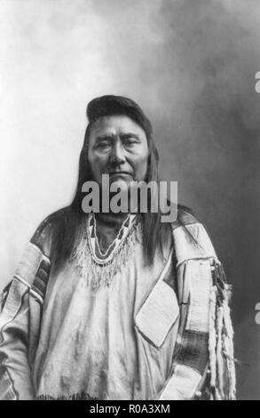 Chief Joseph (1840-1904], Nez Perce Chief, Portrait by Rudolph B. Scott, 1899 - Stock Photo