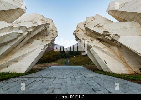 Tjentiste World War II monument,Sutjeska National Park, Bosnia and Herzegovina . - Stock Photo